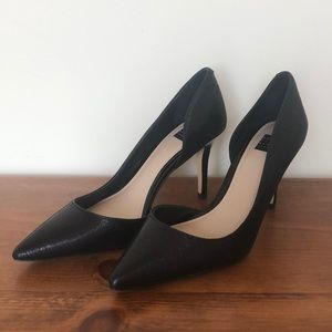 White House Black Market Ella Black Wavy Heel